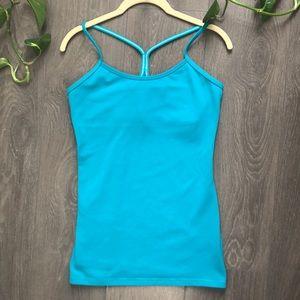 Lululemon blue y strap workout tank top 8 M